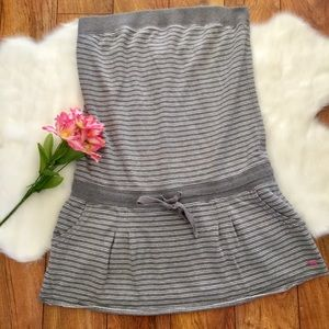 Pink Victoria's Secret • Grey Strapless Dress
